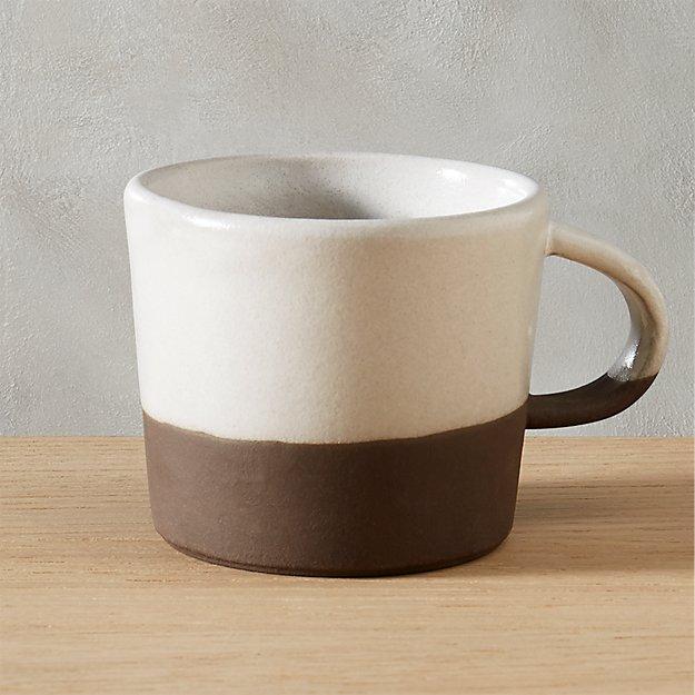 Black Clay Coffee Mug Cb2