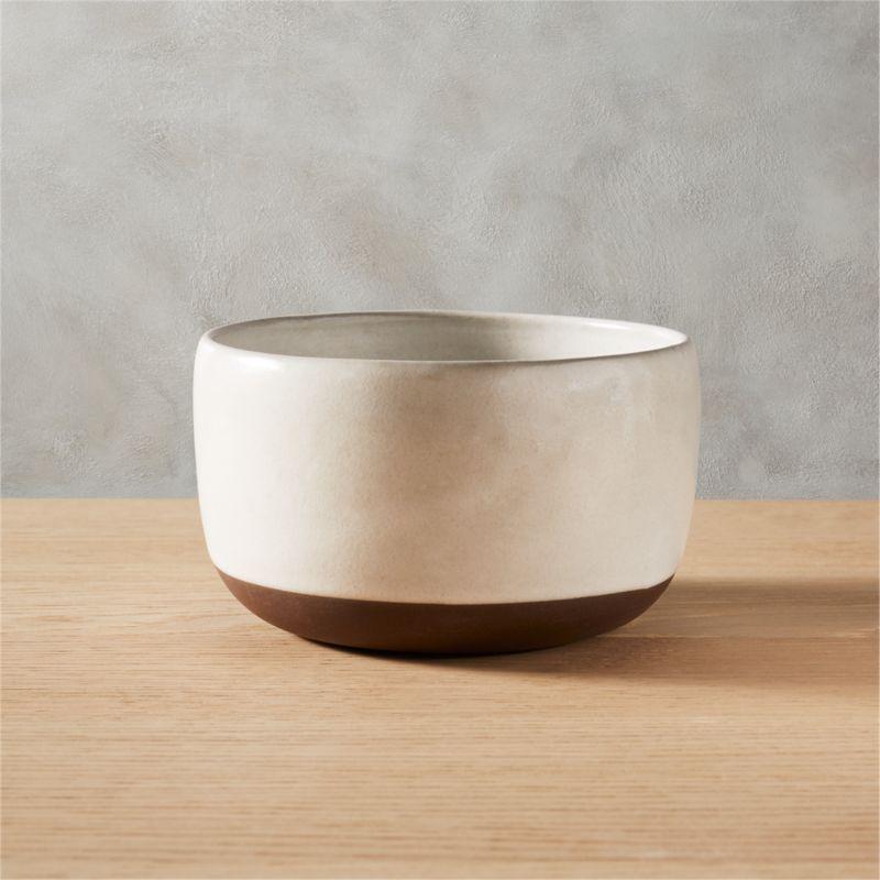 black clay soup bowl