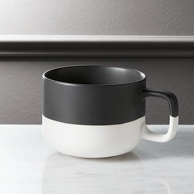 Dip Black And White Coffee Mug Cb2