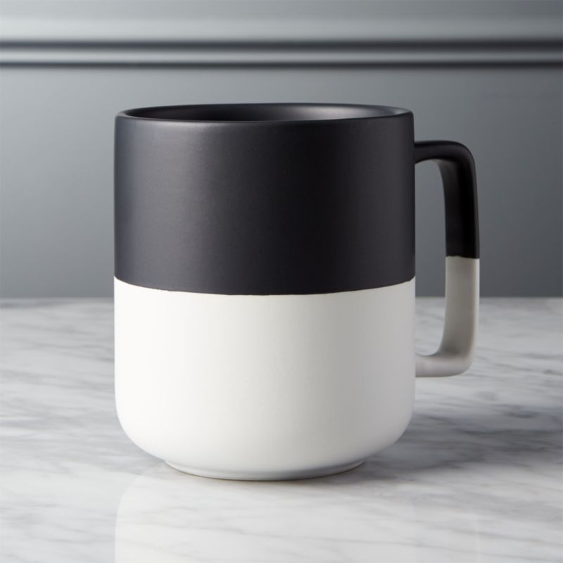 Black Dip Large Mug Reviews Cb2
