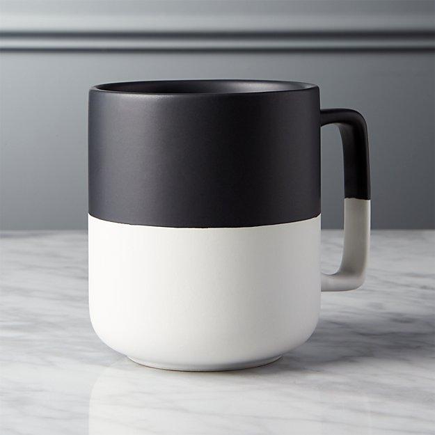 Black Dip Large Mug