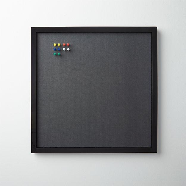 black and grey tackboard