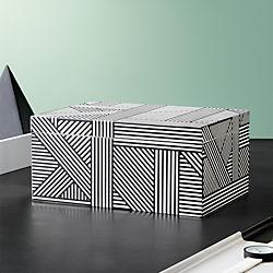 Black And White Jewelry Box