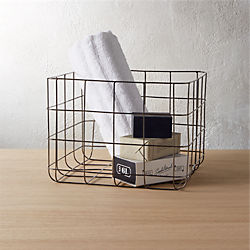 black nickel wire storage basket