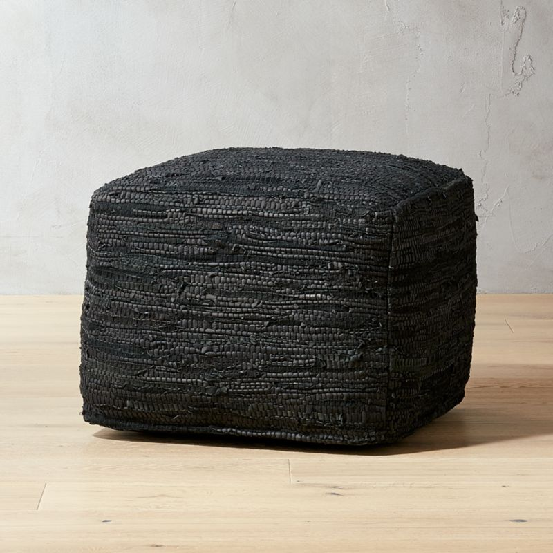 Black Recycled Pouf