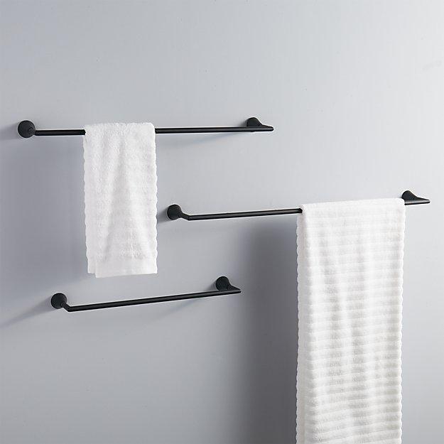 black towel bars