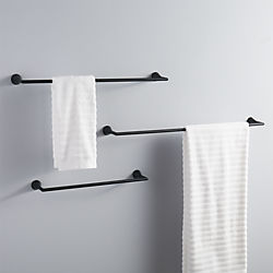 black towel bars