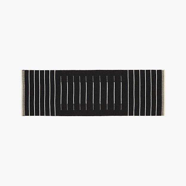 Black with White Stripe Runner 2.5'x8'