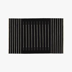 black with white stripe rug 6'x9'