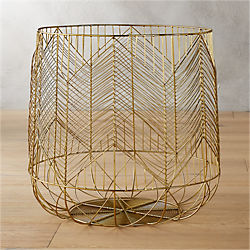 blanche large gold metal basket