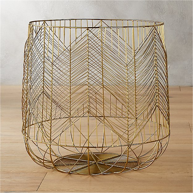 Lovely Gold Wire Basket Gallery Of Basket Accessories