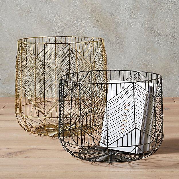 blanche metal baskets
