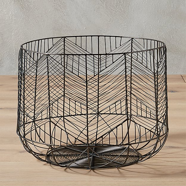 blanche small gunmetal basket
