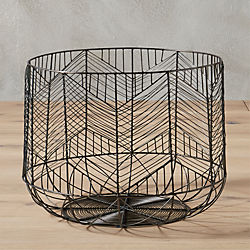 blanche small gunmetal basket