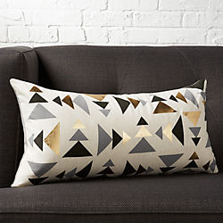 "23""x11"" blaney pillow with down-alternative insert"