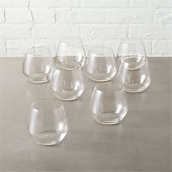 blend stemless wine glasses set of eight