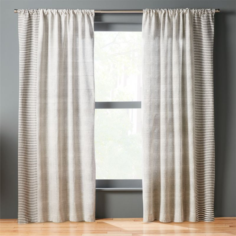 Block Printed Stripe Curtain Panel | CB2