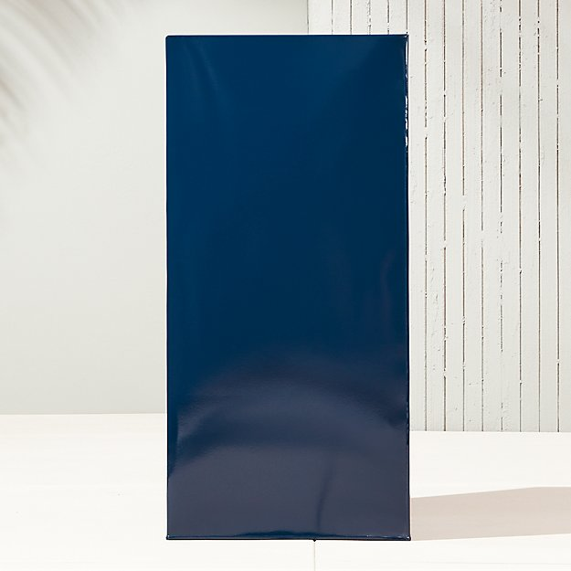 "blox 32"" hi-gloss tall navy planter"