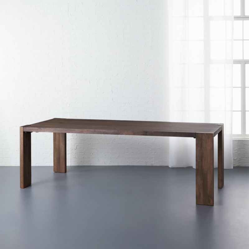 Blox 35x91 Dark Mango Wood Dining Table CB2