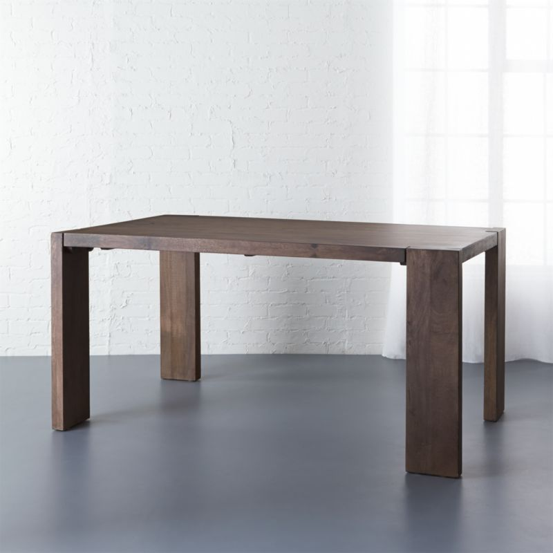 . blox 35x63 solid mango wood dining table   CB2
