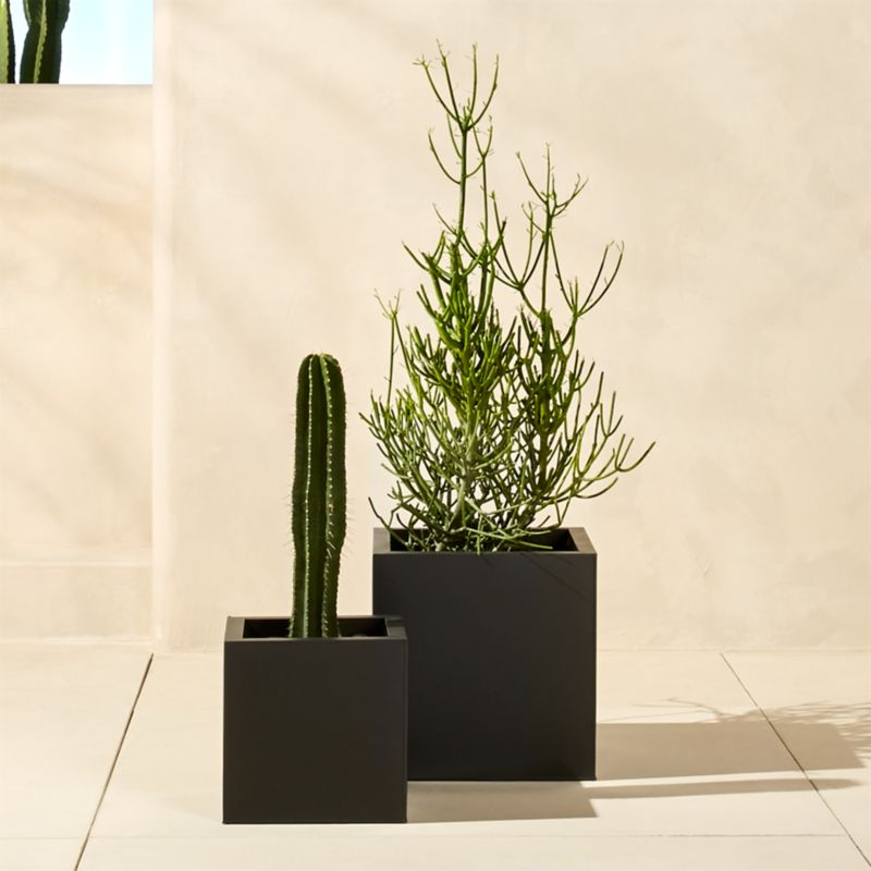 blox galvanized charcoal planters