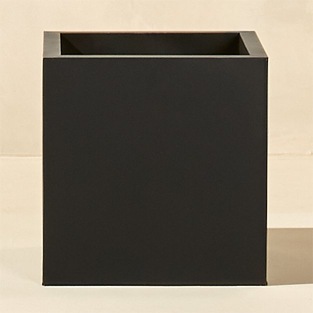 blox large square galvanized charcoal planter