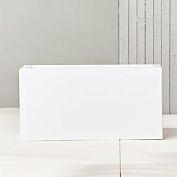 "blox 24"" low galvanized hi-gloss white planter"
