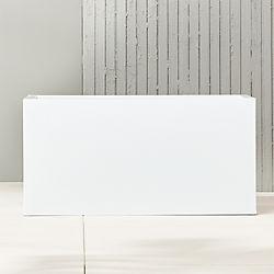"blox 32"" low galvanized hi-gloss white planter"