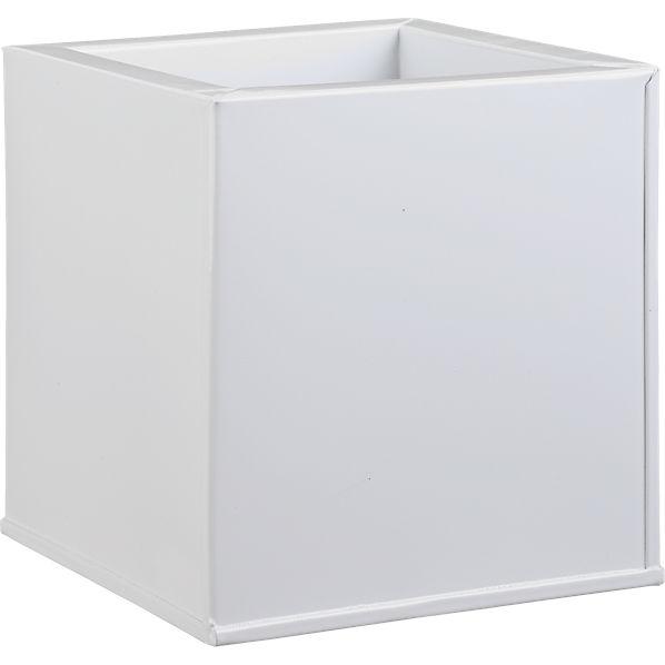 BloxPlanterHiGlossWhite6x6x6S16