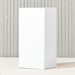 "blox 24"" tall galvanized hi-gloss white planter"