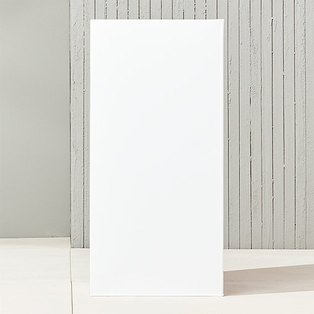 "blox 32"" tall galvanized high-gloss white planter"