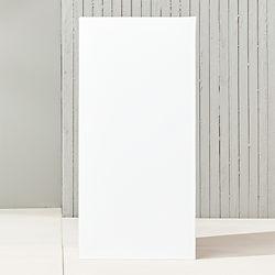"blox 32"" tall galvanized hi-gloss white planter"