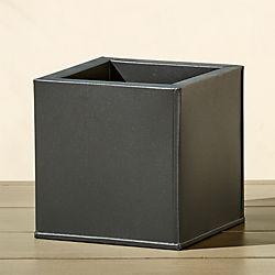 blox small square galvanized charcoal planter