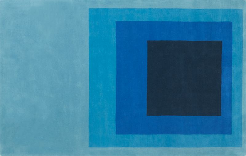 blue block rug 5'x8'