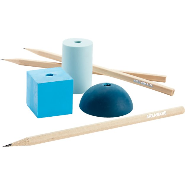 set of 3 pencil and eraser stands