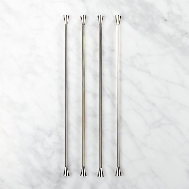 Blush Cocktail Stirrers Set of 4