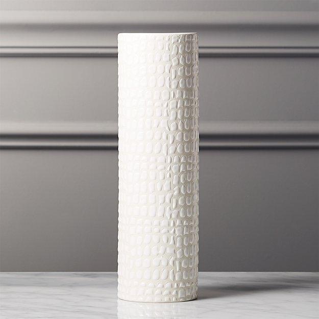Boa White Textured Vase