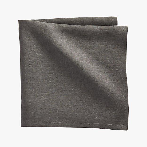 bolt grey linen napkin