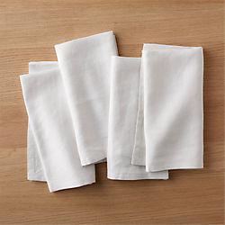 set of 4 bolt white linen napkins