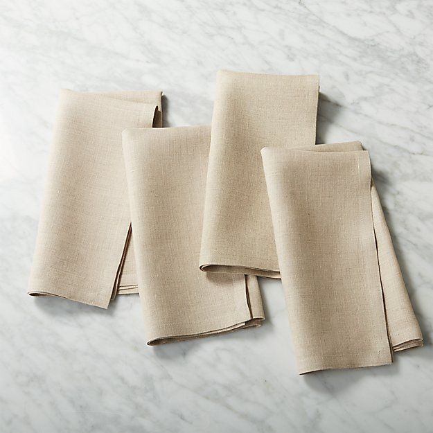 set of 4 bolt natural linen napkins
