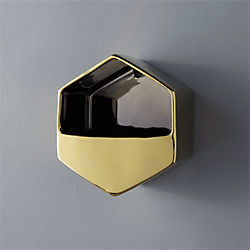 bolt gold wall vase