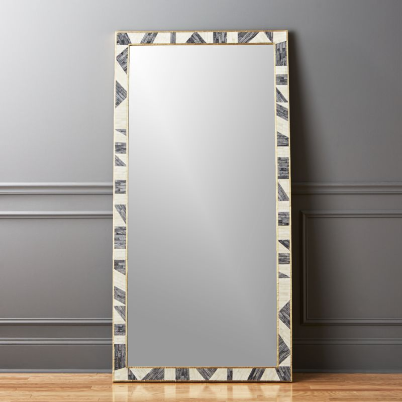 Grace Bone Inlay Floor Mirror 36X72