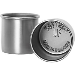 bottoms up stainless steel shot glasses - set of two