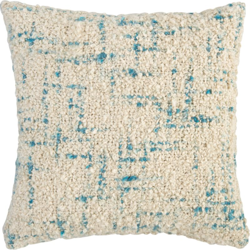 "bouclé swoon 20"" pillow with feather-down insert"