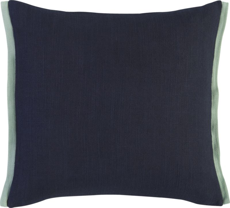 "boundary navy-mint 18"" pillow"