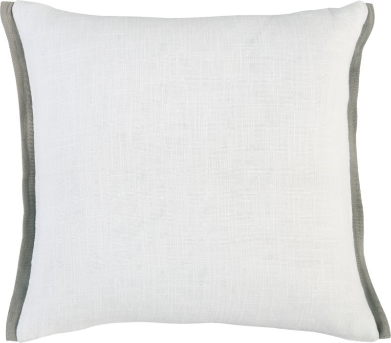 "boundary white-natural 18"" pillow"