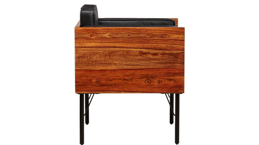 borough leather chair
