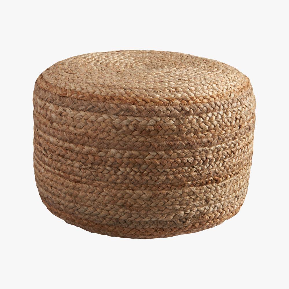 Online Designer Bedroom braided jute pouf