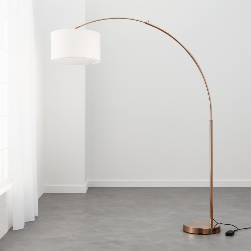 Big dipper silver arc floor lamp cb2 mozeypictures Gallery