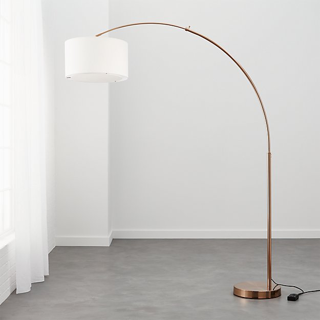 Big Dipper Arc Brass Floor Lamp Cb2